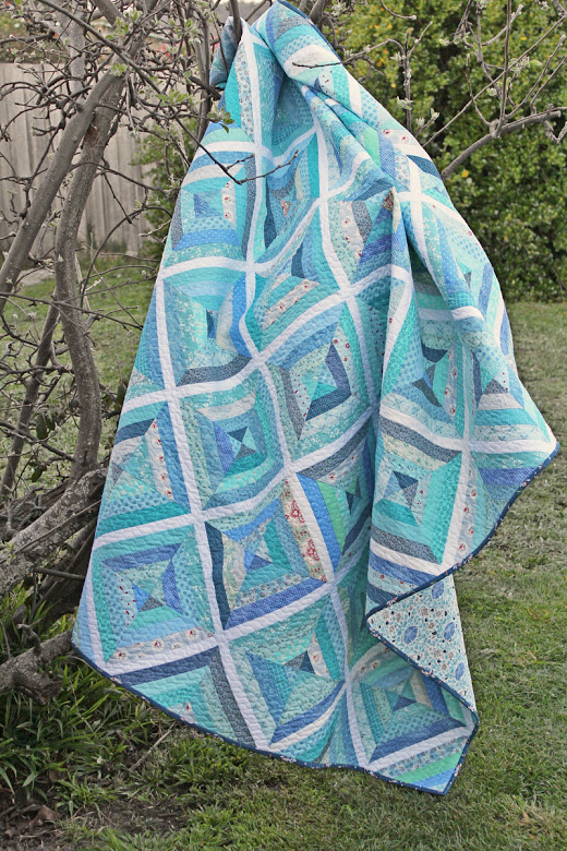Little Blue Lake Quilt Free Tutorial Designed by Rose Johnston of Threadbare Creations