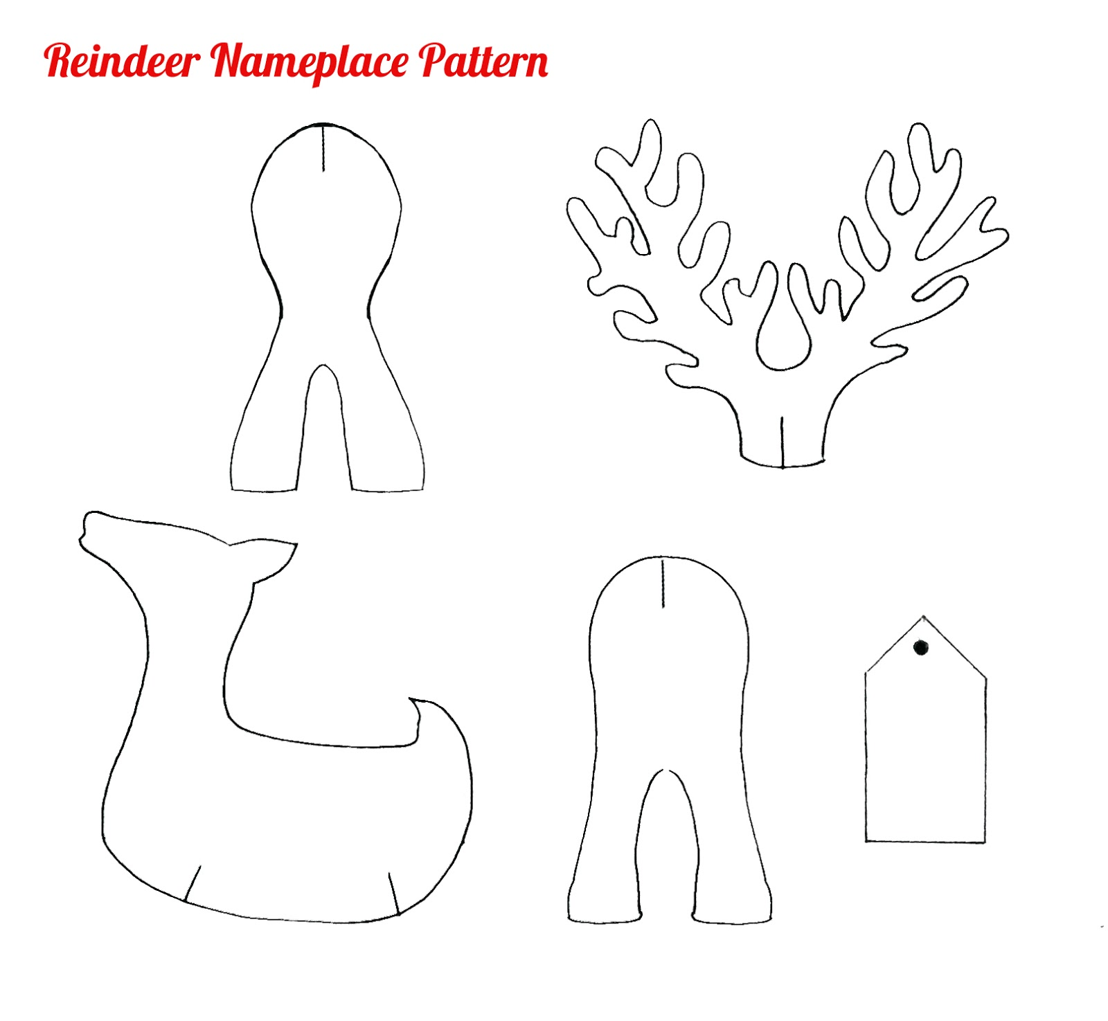 Christmas woodworking patterns free woodproject for Reindeer cut out template