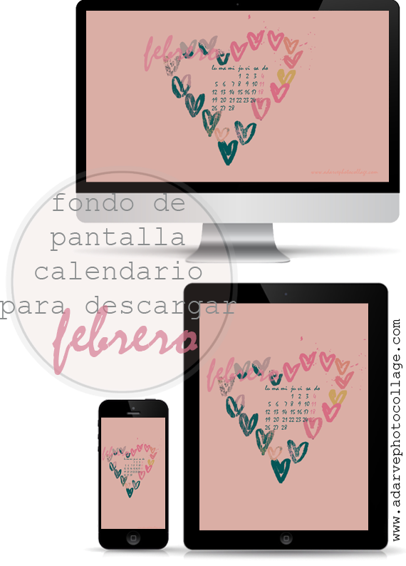 free saint valentine february calendar wallpaper