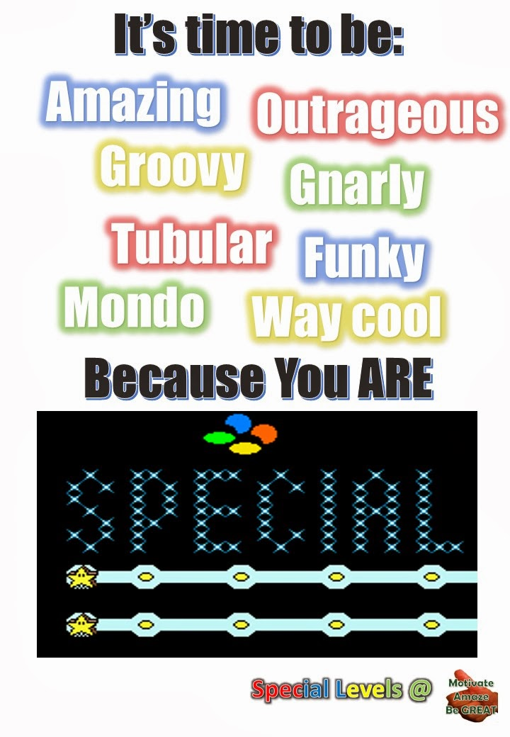 Special Levels, Super Mario Bros, Snes, Amazing, Outrageous, Groovy, Gnarly, Tubular, Funky, Mondo, Way Cool, Tips, How To Be Successful, Personal Development, Self-Improvement, Motivational Tips, Inspirational Quotes