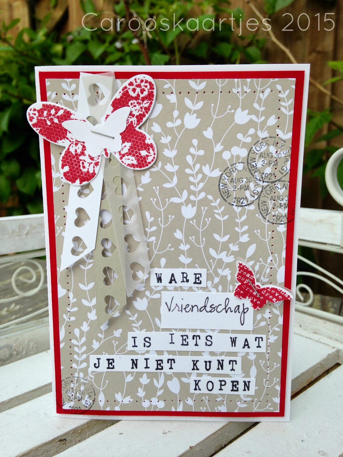 Card made by Caro april 2015