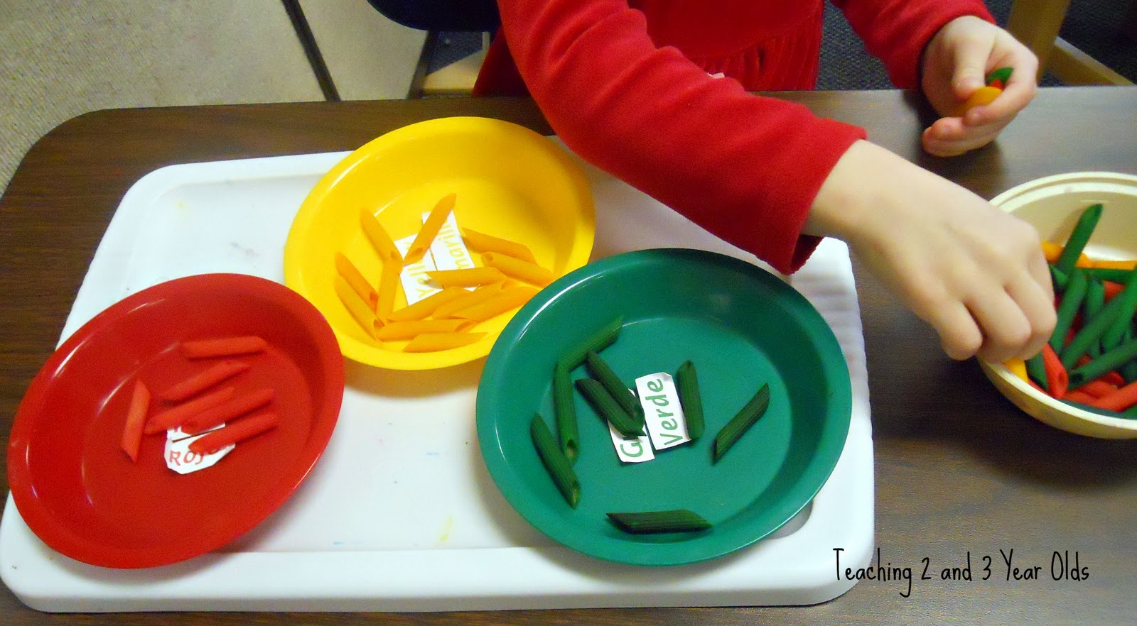 How To Color Pasta For Preschool Activities