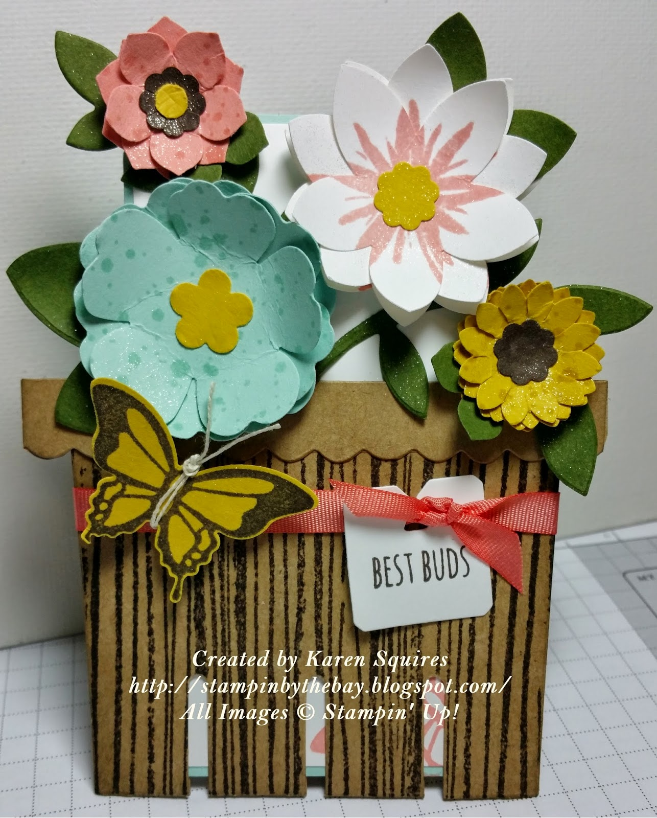 Stampin' By The Bay: Stand Up Flower Pot Pocket Card