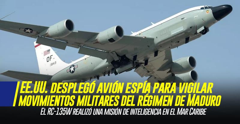 Estados Unidos desplegó avión espía para vigilar los