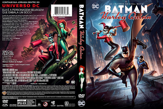 Capa DVD Batman and Harley Quinn [Exclusiva]