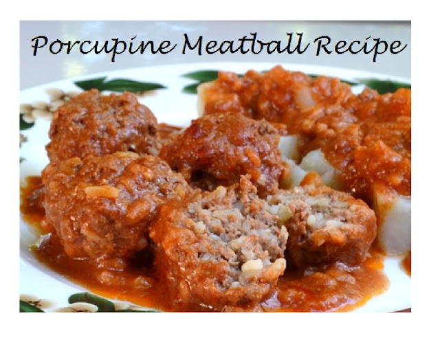 Meatballs  Recipe with Rice in Tomato Sauce