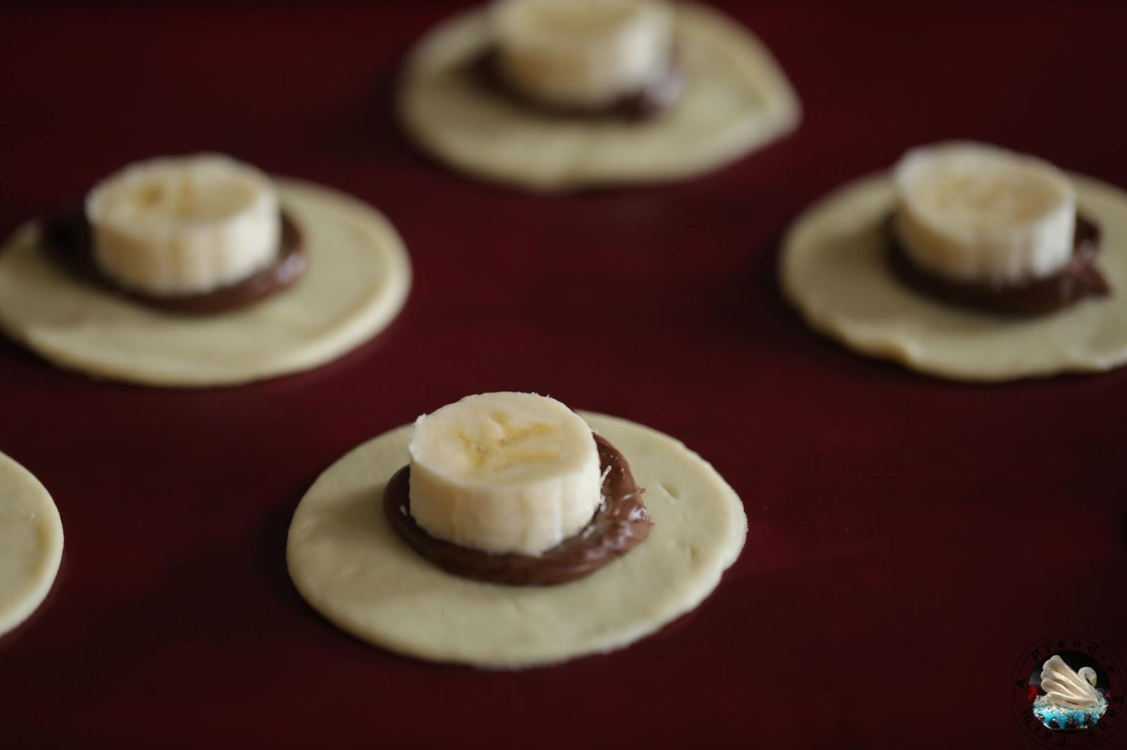 Feuilletés banane Nutella (pas à pas en photos)