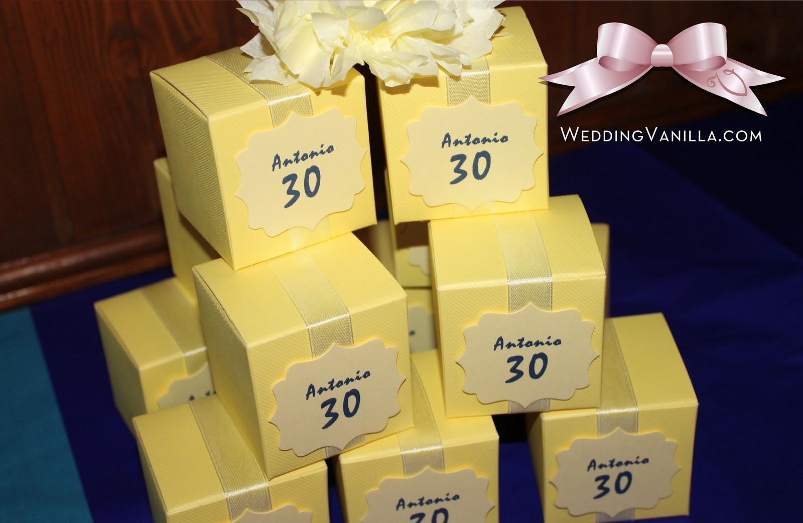 Popolare Vanilla Wedding Design: 30 anni: Festa di compleanno di Antonio  VA74