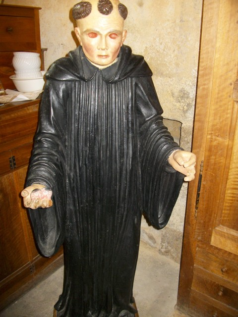 statue de saint Porcaire, Prieuré de Montverdun /©Nicole Joandel