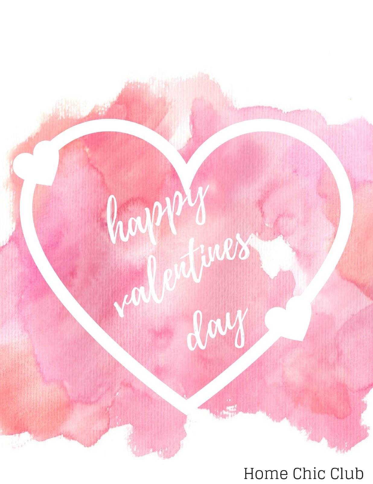 Valentine 39 S Day Printables Home Chic Club Valentine 39 S