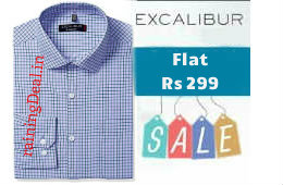 Excalibur Men's Formal Shirts Flat Rs 299 at Amazon rainingdeal.in