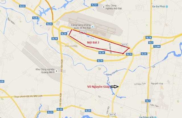 Vị trí địa giới sân bay nội bài 2 theo quy hoạch