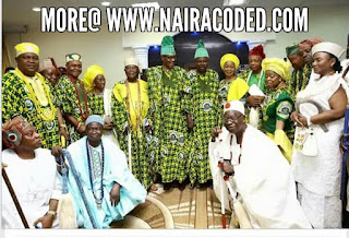 Yoruba Obas Kneeling Down To Snap Pictures With Buhari Like School Boys