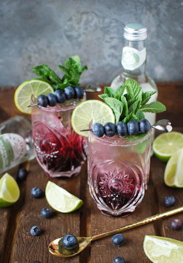 Dry January doesn't have to be boring with these delicious blueberry and elderflower mocktails.
