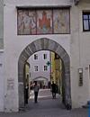 Das Florianitor  in Brunecks Altstadt