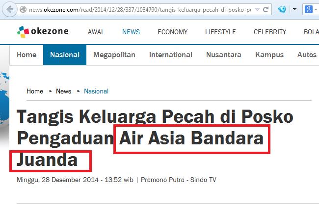 Mencari Lokasi Tepat Pesawat Airasia di Belitung