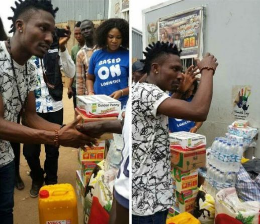 See Has BBNaija Winner Efe Donates Food Items To The Poor