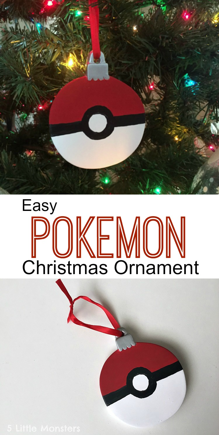 a black stripe around the center and a black circle with a smaller white circle inside it was super easy to make and great for little pokemon fans