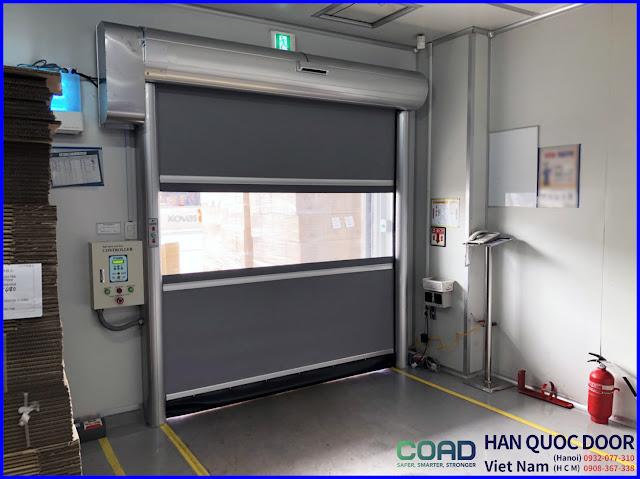 cửa cuốn nhanh, cửa màn nhựa pvc, cửa đóng mở nhanh, cửa cuốn tốc độ cao, COAD