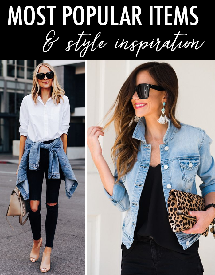 denim jacket, white button down shirt, black jeans, leopard bag, fashion blogger