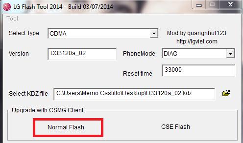 Flashear LG D331 con LG Flash Tool paso a paso