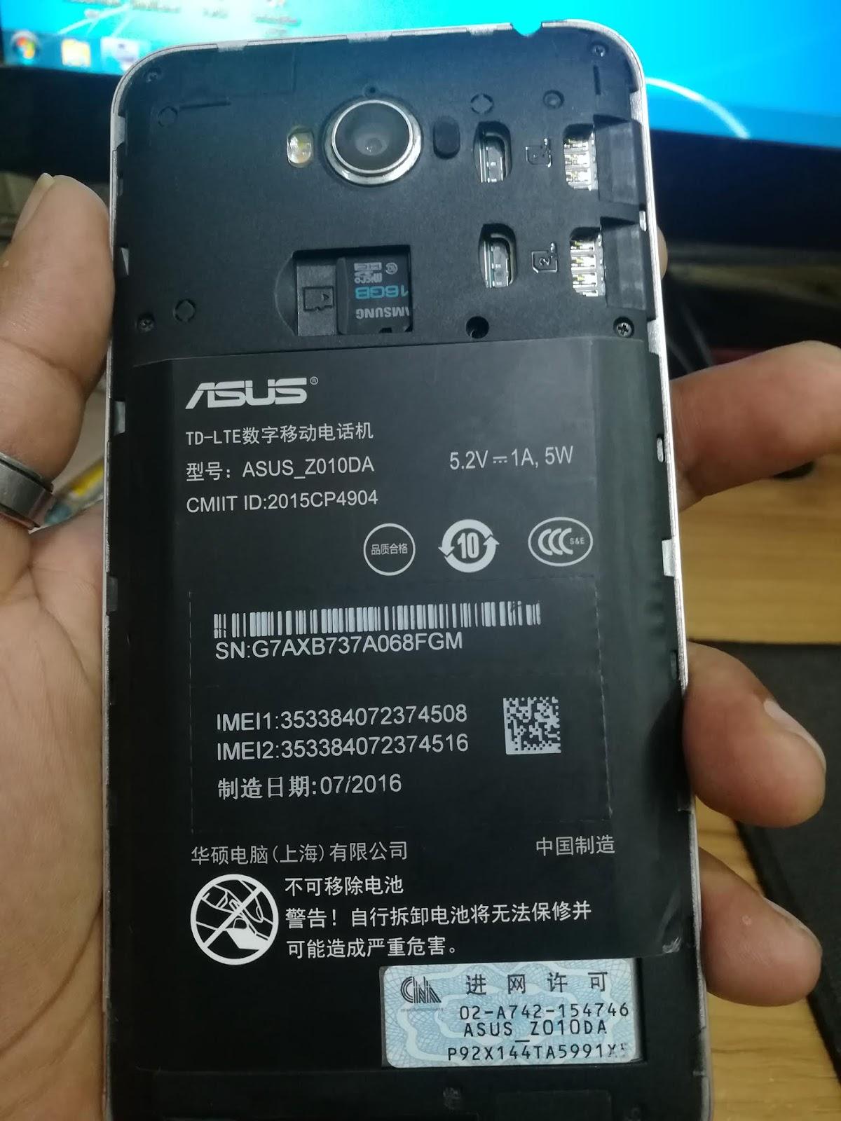 Asus Z010d Bootloop Fix