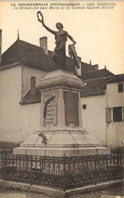 CPA monuments aux Morts de l'Allier, Ebreuil