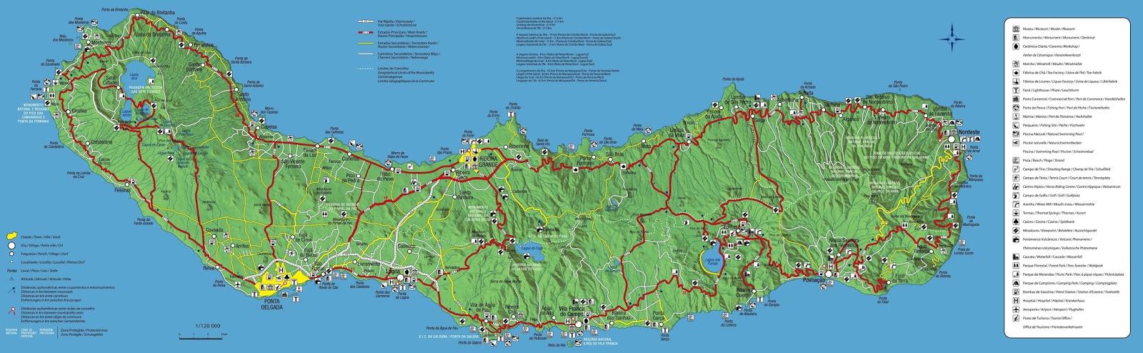 mapa sao miguel Residencial Sete Cidades: Mapa de São Miguel mapa sao miguel