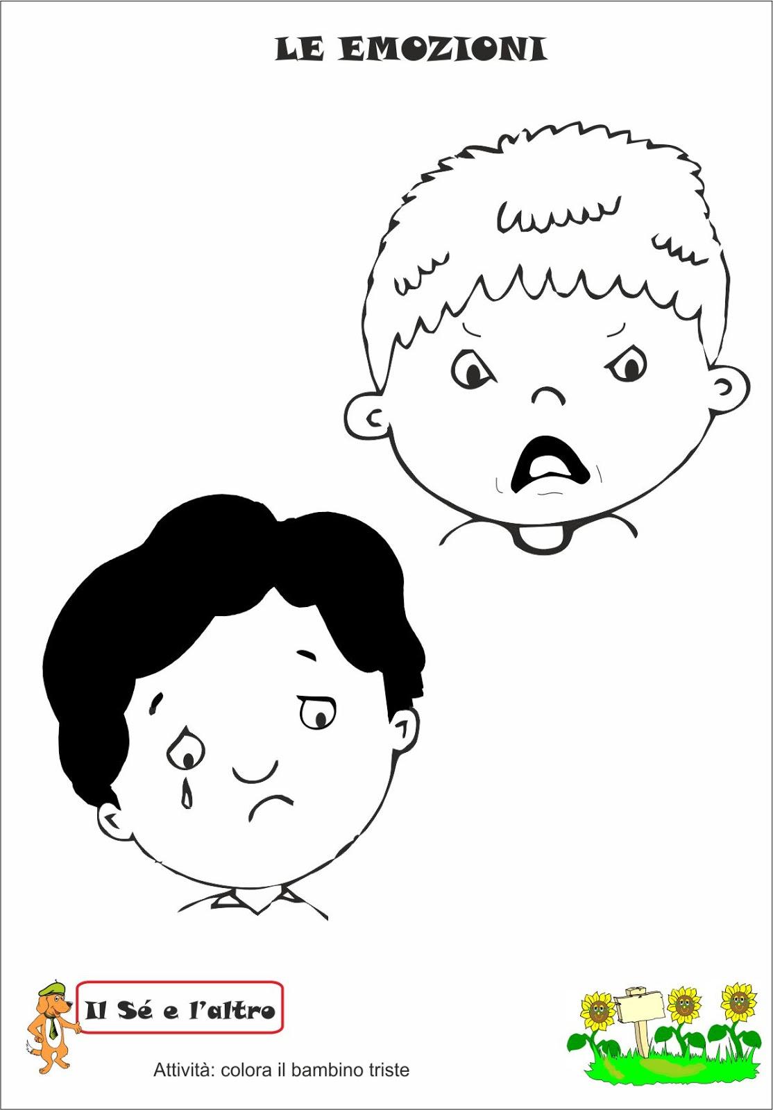 A scuola con poldo le emozioni for Schede didattiche scuola infanzia 3 anni