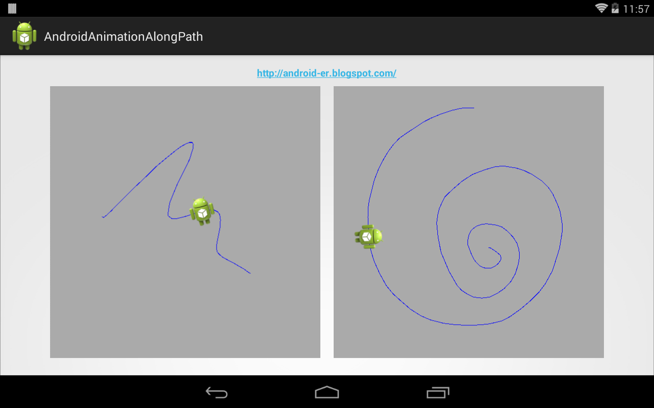 Android-er: Animation follow touch path