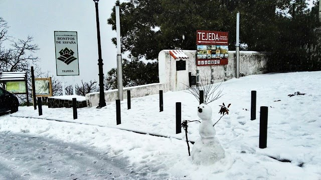 Nieva en uno de los pueblos más bonitos de España: Tejeda