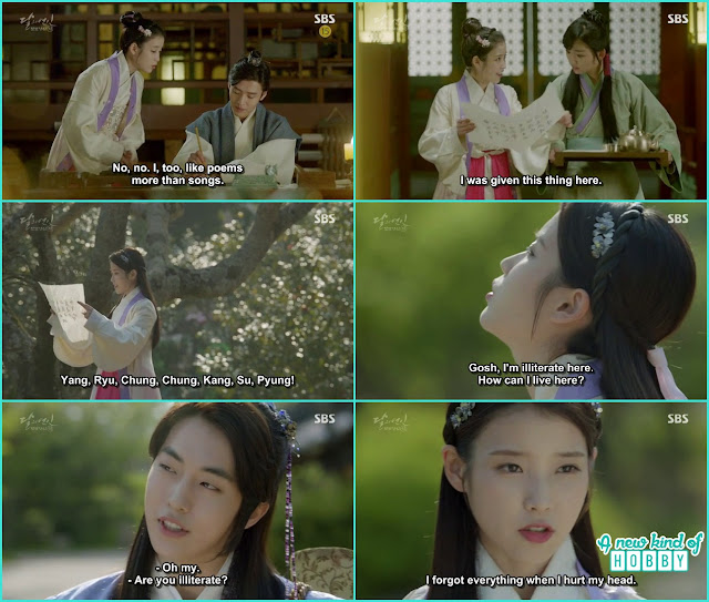 8th prince wrote a poen for hae soo but she can't read the words in goryeo dynasty - Moon Lovers: Scarlet Heart Ryeo - Episode 5 Review