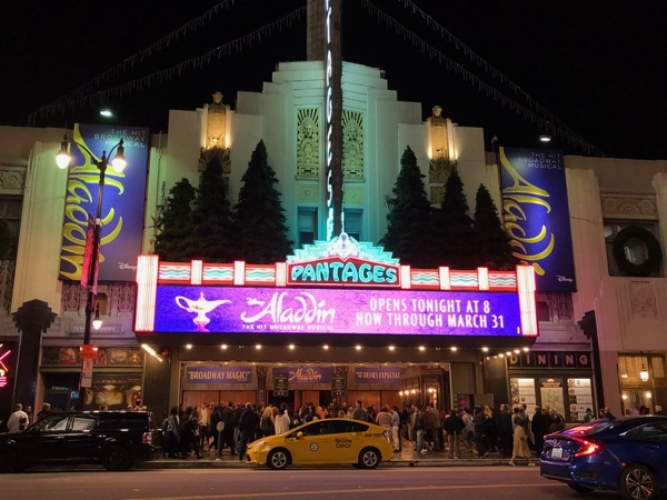 Disney Aladdin Pantages Theatre Hollywood