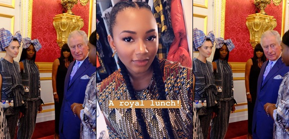 Femi Otedola's Daughter Temi Attends Royal Lunch With British Royalties