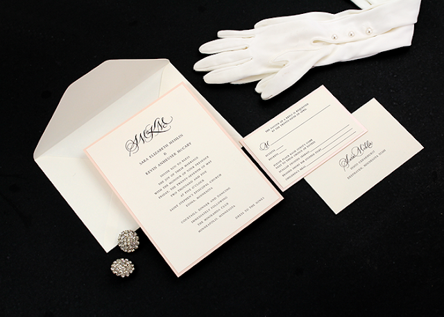 gloves and invite