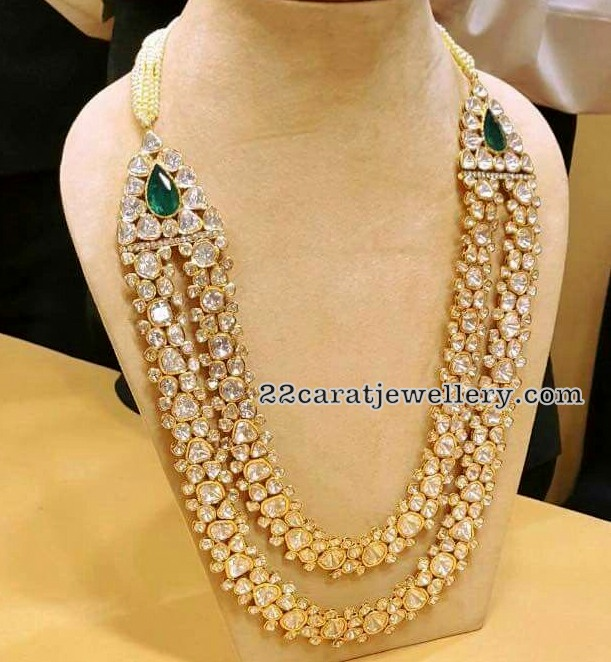 Classy Two Layer Polki Long Chain