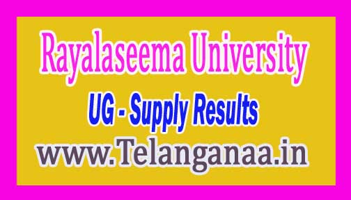 RU UG 3rd Year Supply Results 2016 Rayalaseema University
