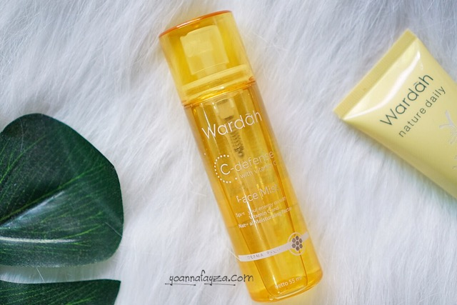 review wardah c-defense face mist