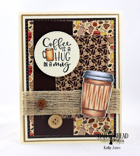 Stamp/Die Duos:Hug In A Mug, Custom Dies: Double Stitched Rectangles, Double Stitched Circles, Paper Collection: Latte Love