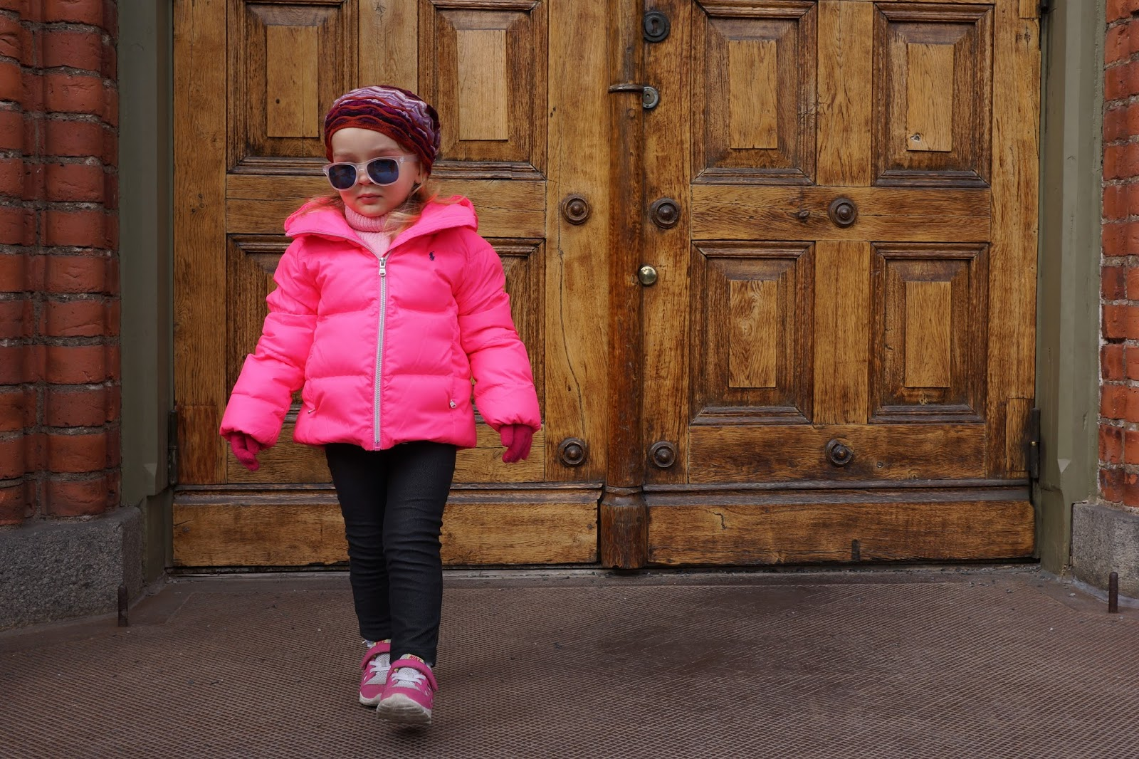 toddler girl pink ralph lauren down jacket missoni beanie