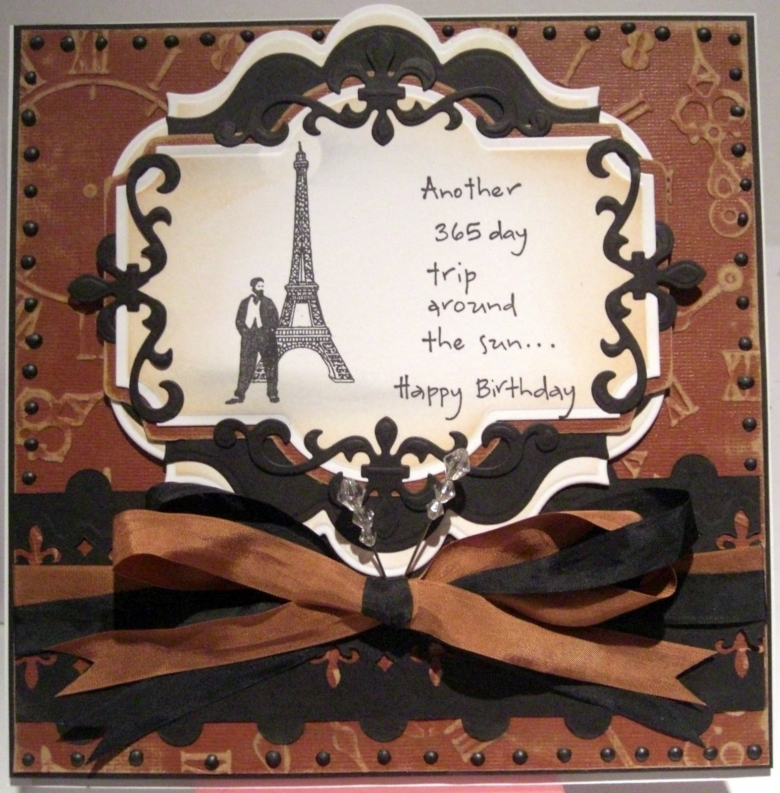 Crimson Cloud Card Making Supplies French Birthday Wishes