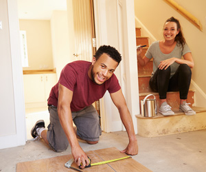 homeowners working in DIY projects