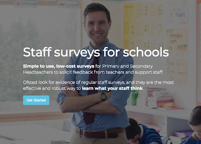 School Staff Surveys website screenshot