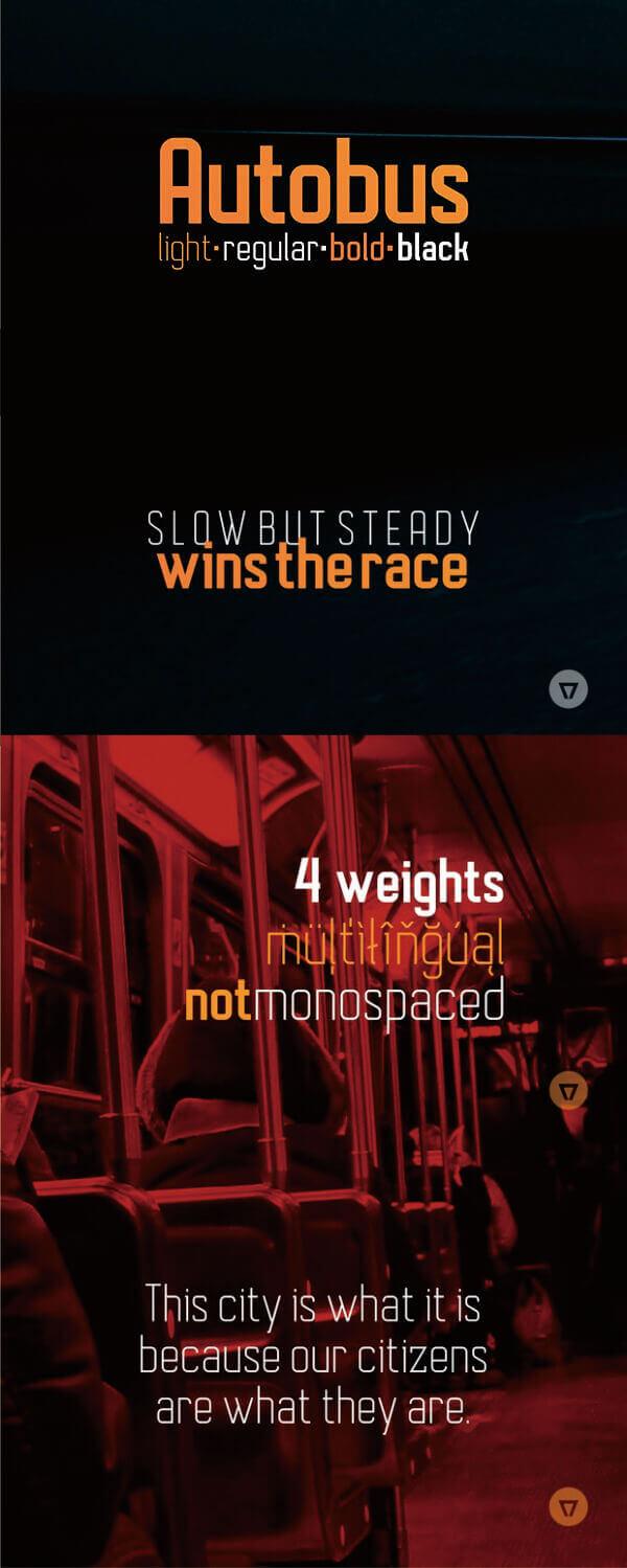 Download Gratis Sans Serif Komersial Font - Autobus Typeface