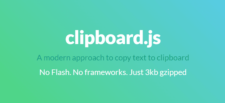 Copy to clipboard Javascript