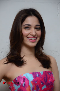 Actress Tamanna Latest Images in Floral Short Dress at Okkadochadu Movie Promotions  0111.JPG
