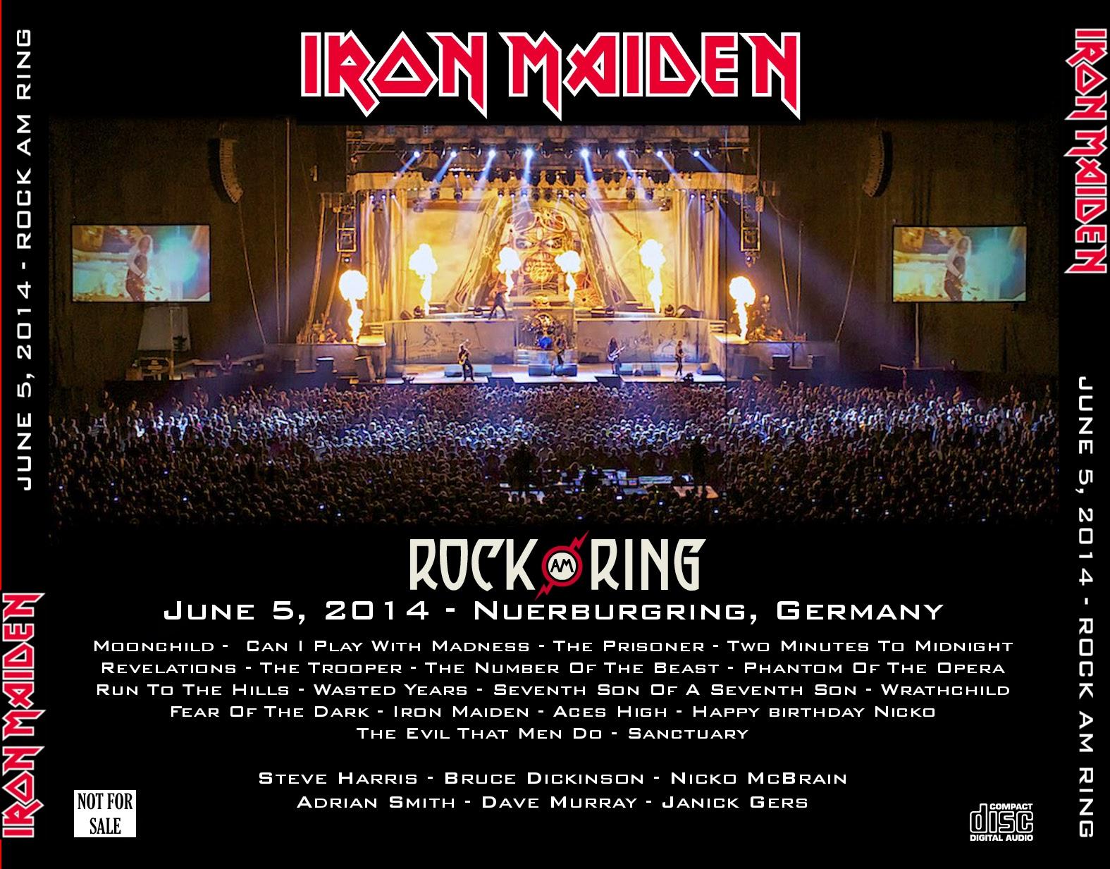 Iron Maiden - 2014-06-05 - Rock Am Ring - Guitars101