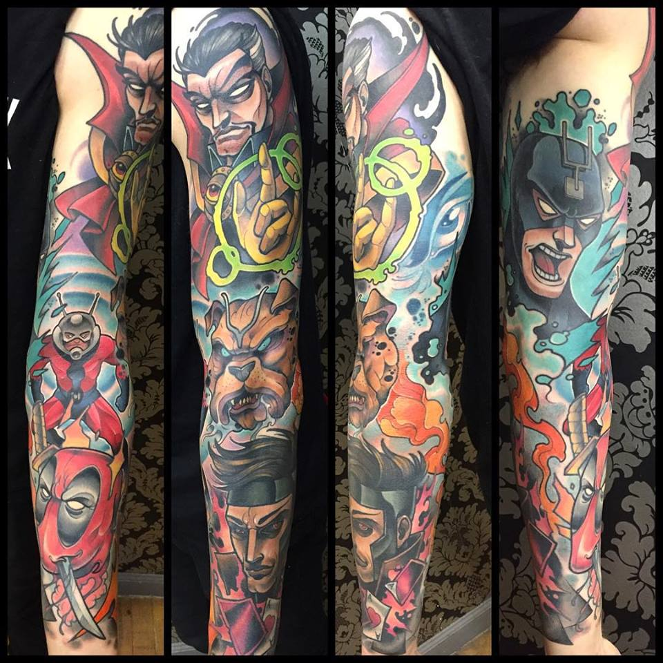 Tattoos And Paintings Of Marvel And Star Wars Characters From David Tevenal