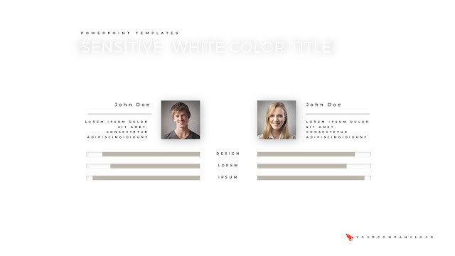 Two Members of Premium PowerPoint Template with Whit Title
