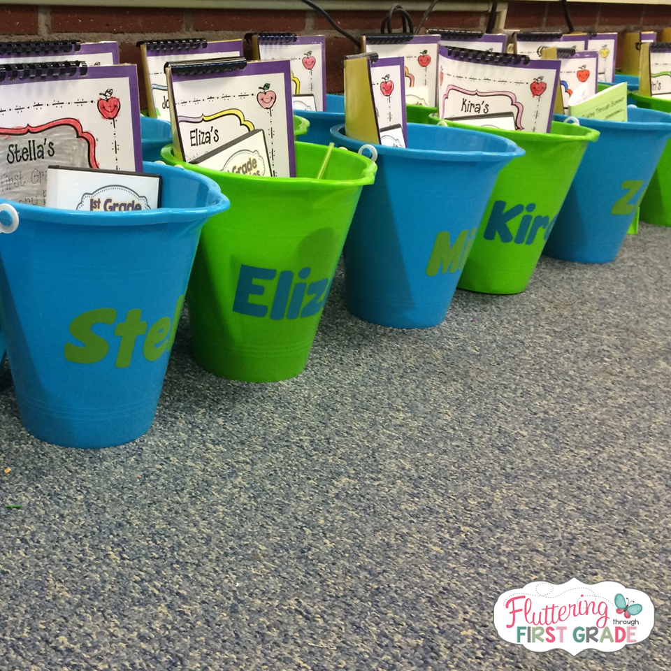 Last day of school gifts for students. Collect your stuff in a bucket. Genius!